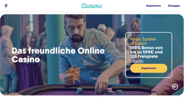 Casumo Casino – 20 Freispiele bei Registrierung + 100% Willkommensbonus