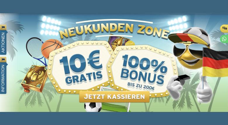 Sunnyplayer Bonus 10€ gratis ohne Bonus Code