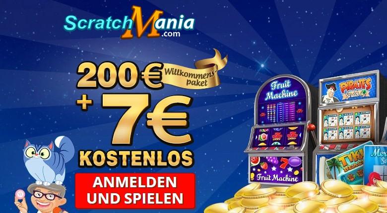 ScratchMania Casino – 7€ ohne Einzahlung sofort