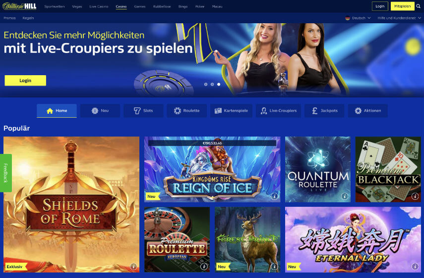 William Hill Casino Bonus Ohne Einzahlung