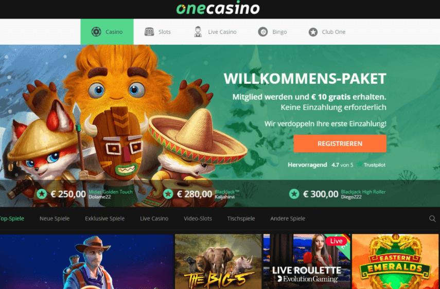 One Casino Bonus