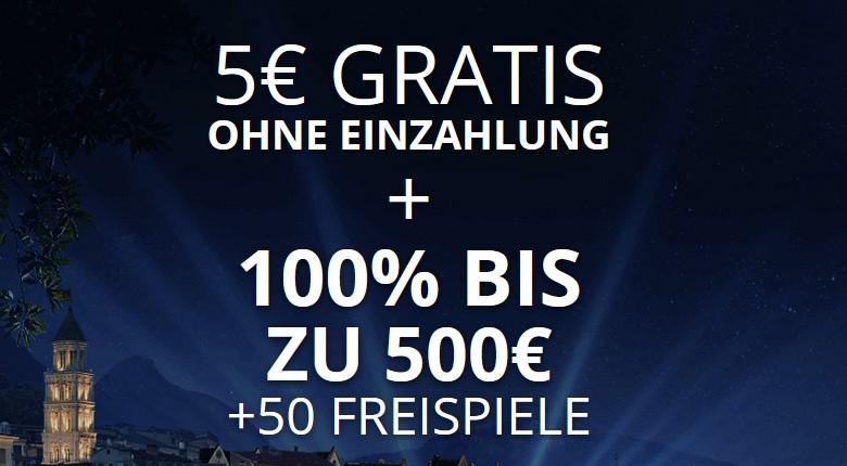 bCasino – 5€ Anmeldebonus sofort