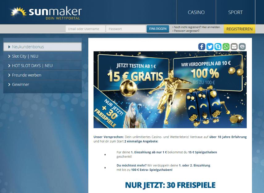 Sunmaker Echtgeld