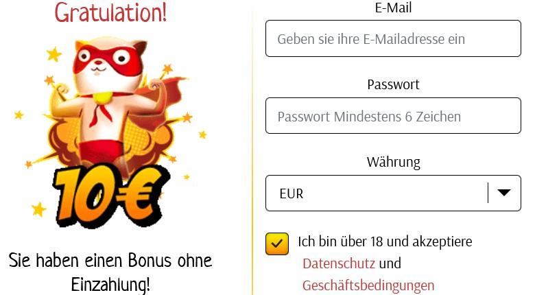 Supercat Casino – 15 Euro Bonus ohne Einzahlung