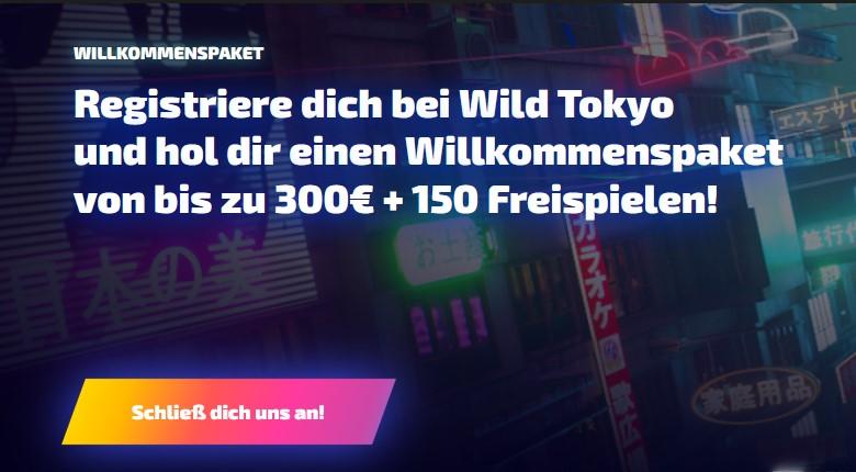 Wild Tokyo – 10 Free Spins bei Anmeldung